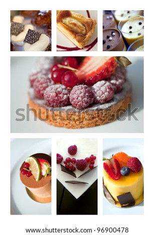 Collage of desserts