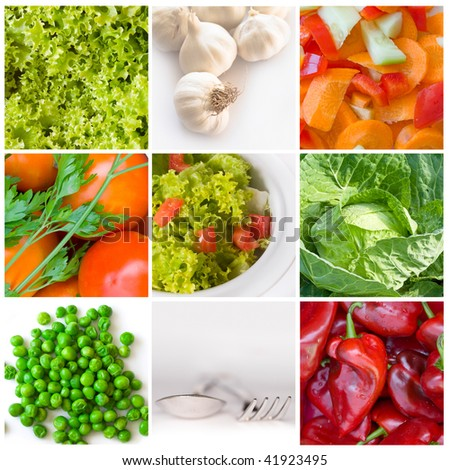 collage of different salat