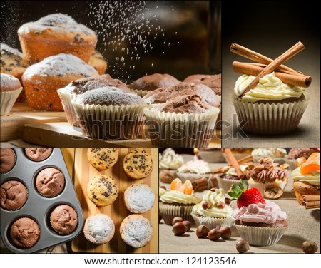 Collage of different types of muffins no. 3