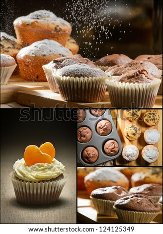 Collage of different types of muffins no. 2
