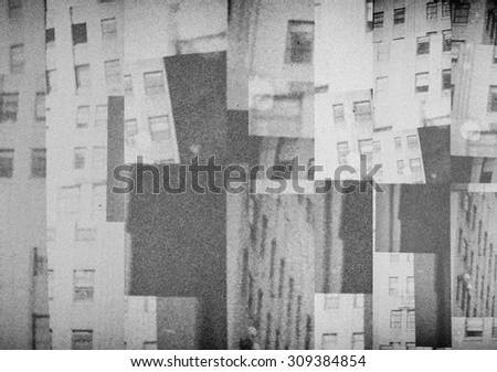 Collage of fragments of buildings