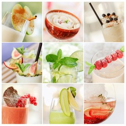 collage of fresh summer cocktails