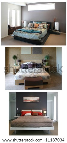 Collage of home interiors. BACKGROUND easily removed.