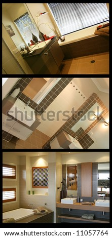 Collage of home interiors. BACKGROUND easily removed. Many more collages in my portfolio.