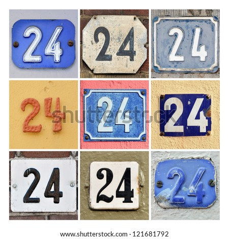Collage of House Numbers Twenty-four