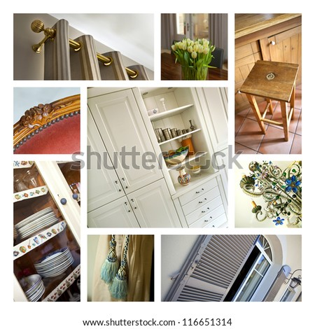 Collage of interiors