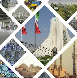 Collage of Iran images - travel background (my photos)