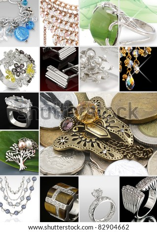 Collage of jewelry photos