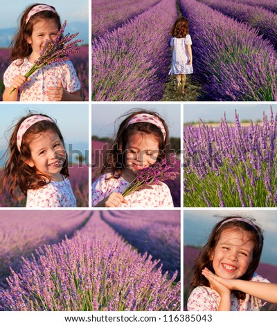 Collage of lavender