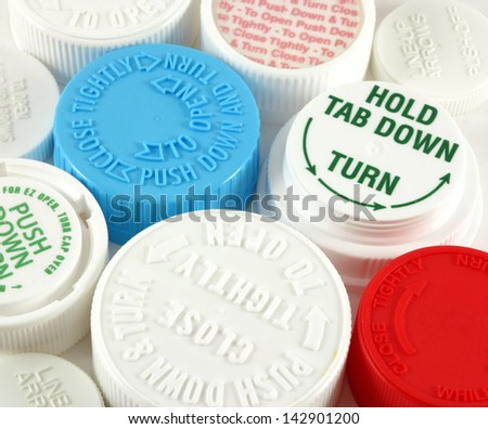 Bottle Safety Caps Bottle Safety Caps on a