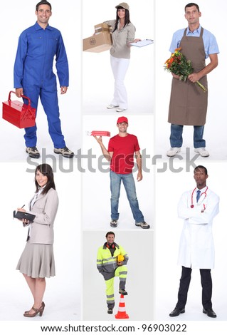 Collage of occupations
