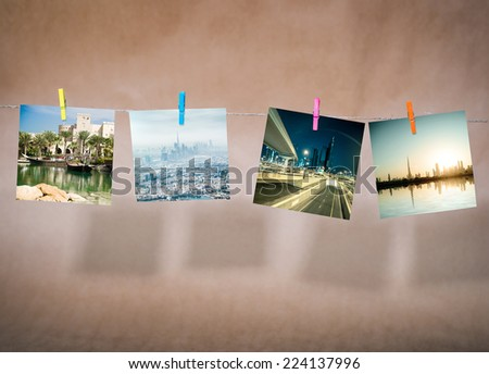 collage of pictures of cityscapes of Dubai. UAE