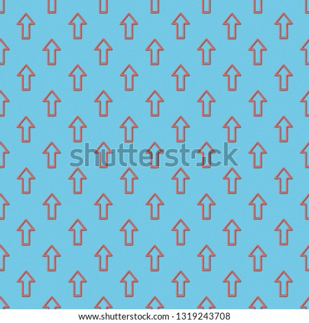 collage of seamless background pattern with red pointers on blue background  #1319243708