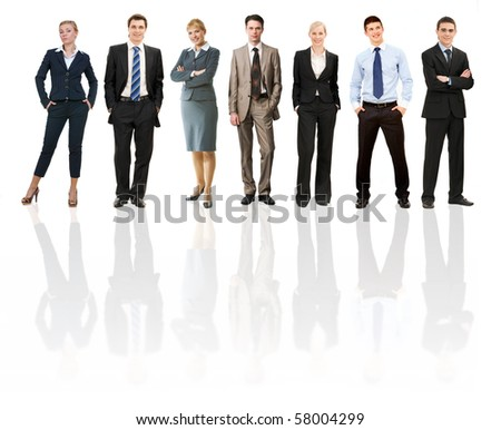 Collage of several business people in different poses