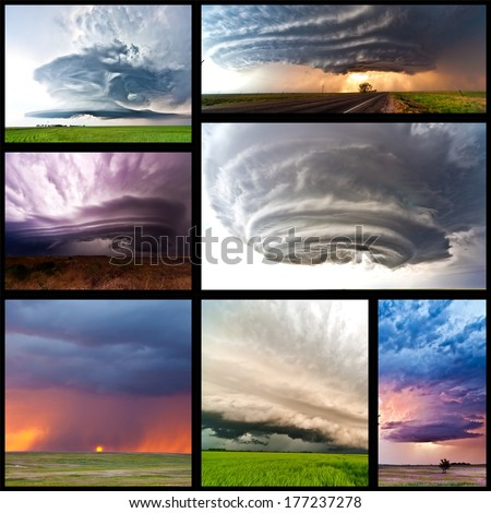 Collage of severe weather pictures