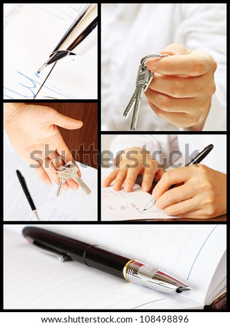 Collage of Signing a Real Estate Contract