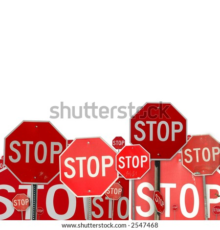 collage of stop signs