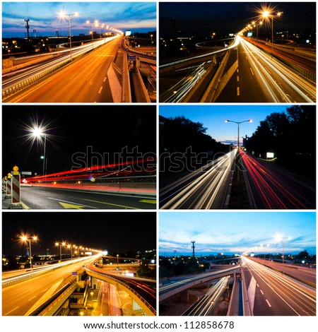 Collage of the long exposure