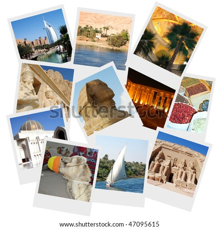 Collage of 11 Travel photos from various middle east countries including  Dubai, Oman, Egypt