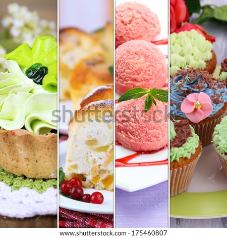Collage of various desserts