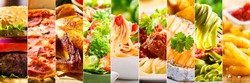 collage of various food products.