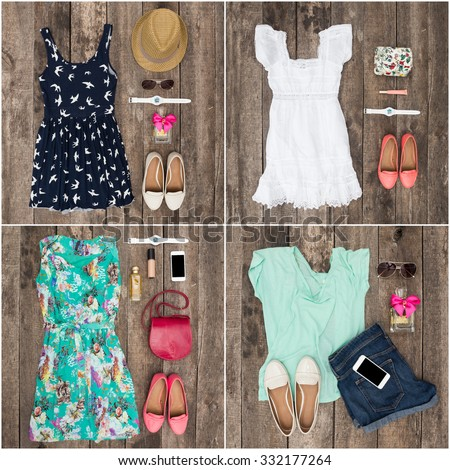 Shutterstock Collage of women's clothes