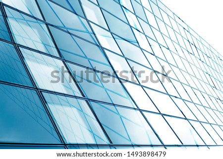 Collage photo of framed hi-tech glass structures. Structural glazing. Transparent wall, ceiling or roof fragments with metal framework. Abstract modern architecture, industry or technology background. #1493898479