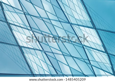 Collage photo of framed hi-tech glass structures. Transparent wall, ceiling or roof fragments with metal framework. Structural glazing. Abstract modern architecture, interior or technology background.
