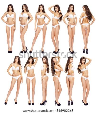 Full length nude model