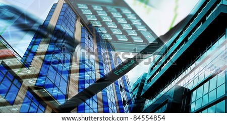 collage with buildings and marketing conceptual