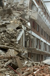 Collapsed block of flats