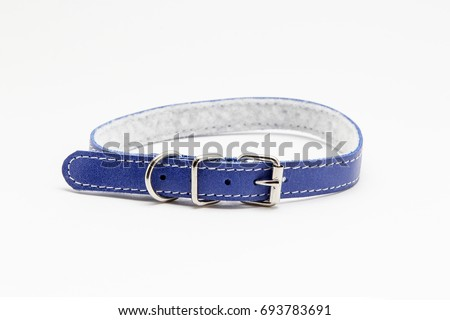 Collar for cat or dog on white background #693783691
