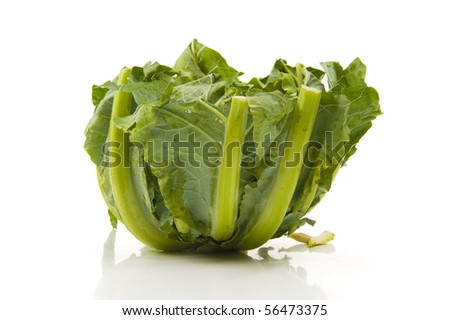 Collard greens. photo of a fresh,