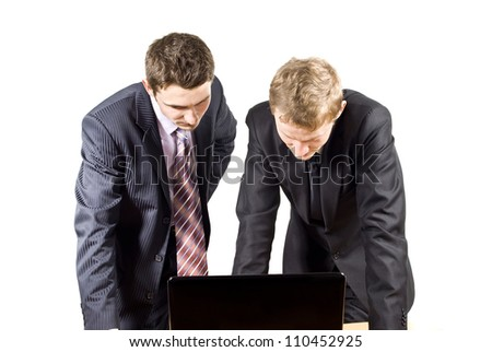 colleagues working at the computer