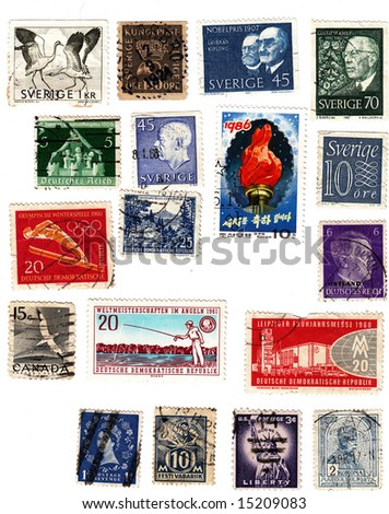 Collectible stamps from various countries Sweden Canada Estland Germany