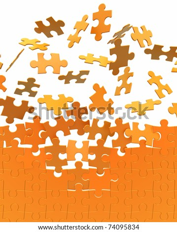 collecting puzzle wall