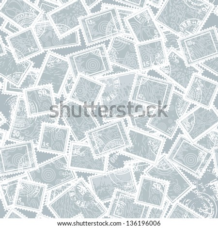 collection - abstract postage stamps (seamless)
