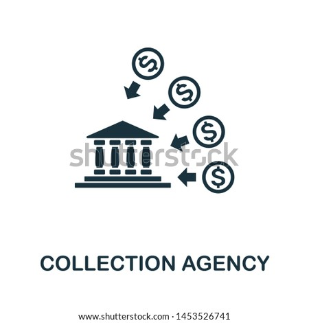 Collection Agency icon illustration. Creative sign from investment icons collection. Filled flat Collection Agency icon for computer and mobile. Symbol, logo graphics.