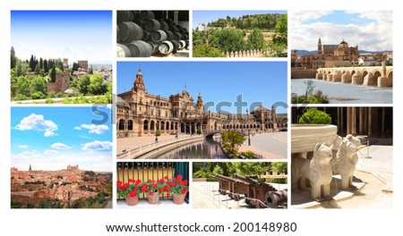 Collection - famous places of Spain