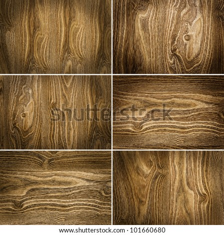 collection from six wooden backgrounds