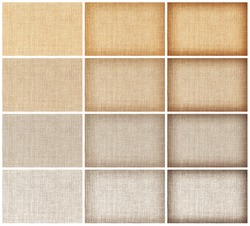 collection natural sackcloth texture for background.