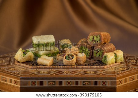 Collection of Arabic Sweets