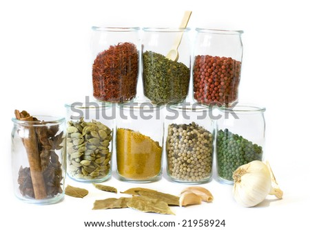 Collection of aromatic spices
