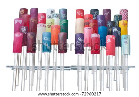 collection of artificial finger nails