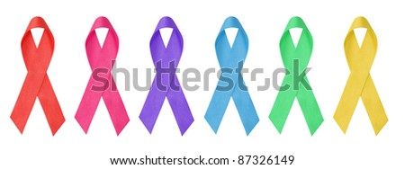 collection of awareness ribbons