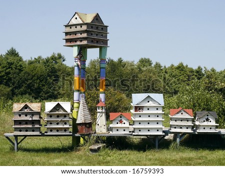 collection of birdhouses