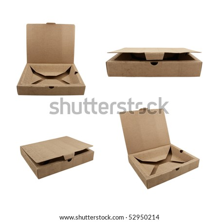 Collection of boxes made from corrugated cardboard