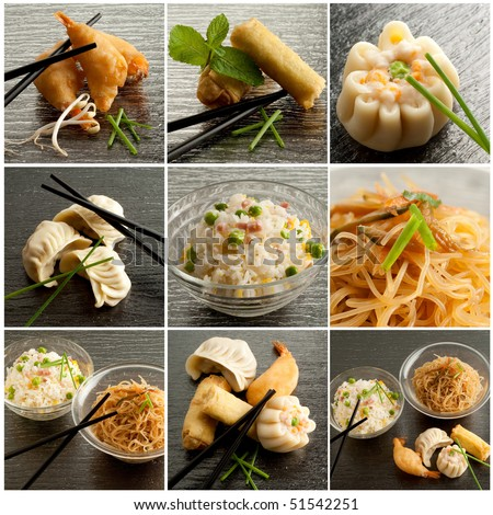 collection of chinese food