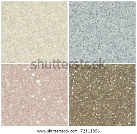 Collection of close up shots of a marble