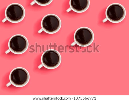 Many cups of coffee, top view Images and Stock Photos - Page